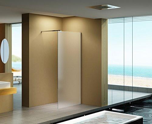 100x200 cm Duschabtrennung LILY Frost, Milchglas, Duschwand, Walk-In Dusche, 10 mm ESG Sicherheitsglas