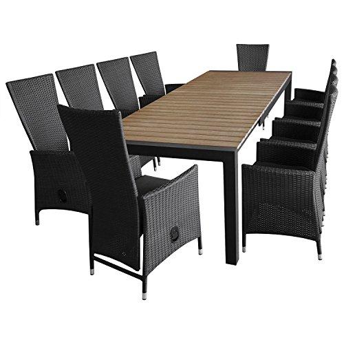 11tlg gartenm bel terrassenm bel set sitzgarnitur. Black Bedroom Furniture Sets. Home Design Ideas