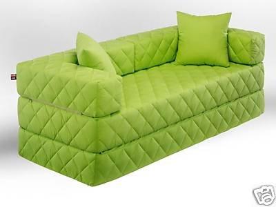 1A Schlafsofa! 10 versch. Farben! Ideal für Kinder (grün)