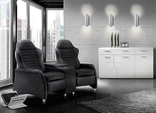 2 sitzer kinosessel cinema relax sofa heimkino sessel. Black Bedroom Furniture Sets. Home Design Ideas
