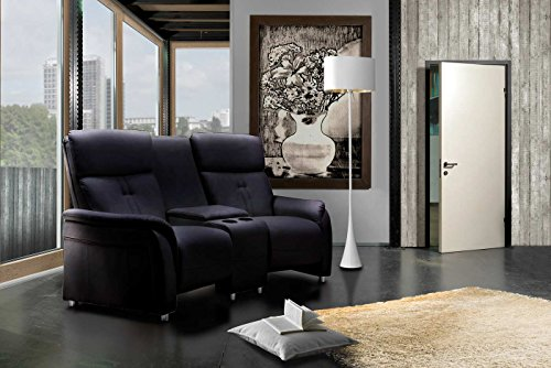 2er kinosessel kunstleder schwarz cinema relax sofa heimkino sessel tv sofa relaxcouch. Black Bedroom Furniture Sets. Home Design Ideas