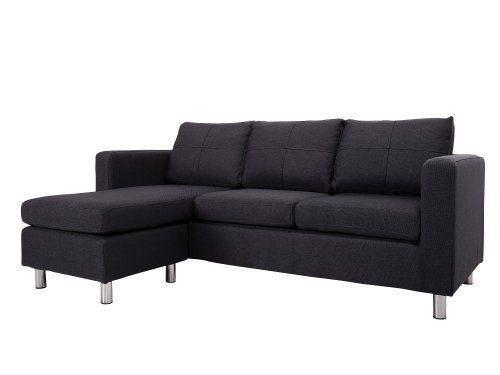3-sitzer Sofa Catwalk Rauchgrau mit Hocker
