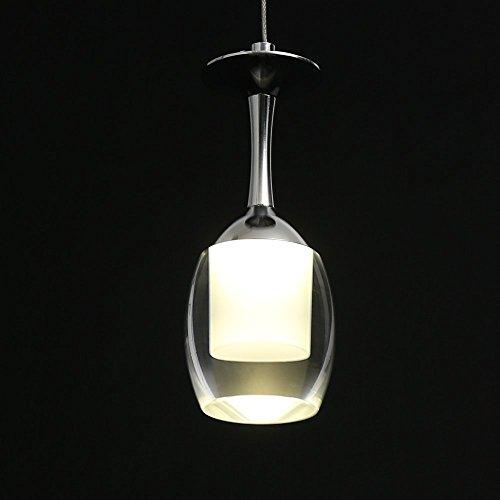 3W Weinglas Acryl LED Hängeleuchte Modern Simplicity Stil Wohnzimmer Hängeleuchte Schlafzimmer Hängeleuchte Beleuchtung