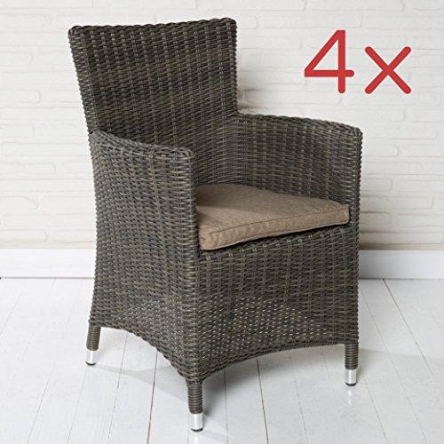 4er set gartenst hle gartensessel schwarz in rattanoptik gartenm bel kunststoff m bel24. Black Bedroom Furniture Sets. Home Design Ideas