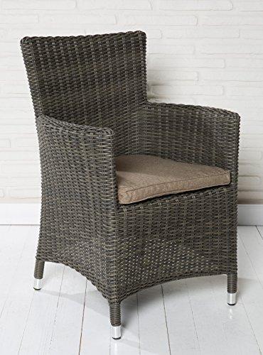 4x hochwertiger polyrattan gartenstuhl sessel rattan stuhl gartenst hle gartenm bel gartensessel. Black Bedroom Furniture Sets. Home Design Ideas