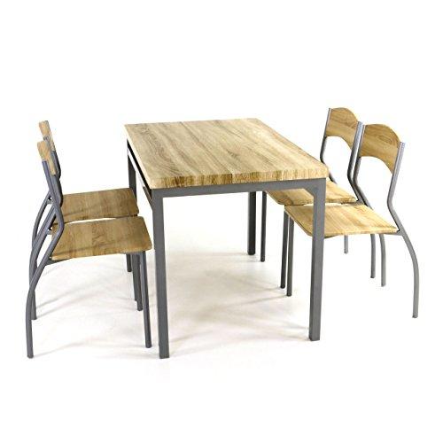 tischgruppe esszimmergruppe sitzgruppe 3 tlg tisch 70x110 cm stuhl buche stoff m bel24. Black Bedroom Furniture Sets. Home Design Ideas