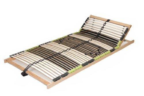 "7 Zonen Lattenrahmen Lattenrost ""DaMi Balance Kopf verstellbar"" zerlegt inkl. 6 fache Härteverstellung (90 x 200 cm)"
