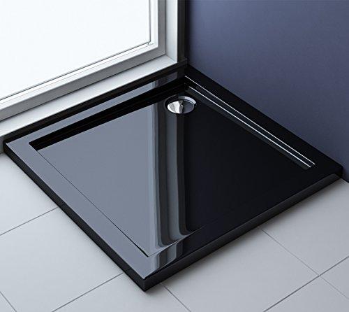 76x76x4 cm design duschtasse faro1b in schwarz duschwanne acrylwanne m bel24. Black Bedroom Furniture Sets. Home Design Ideas