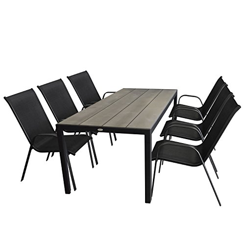 outsunny gartenm bel set gartengarnitur sitzgruppe alu klappbar 7 tlg m bel24. Black Bedroom Furniture Sets. Home Design Ideas