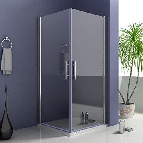 90 x 90 x 195 cm Duschkabine Duschwand Schwingtür Dusche Duschabtrennung Eckeinstieg