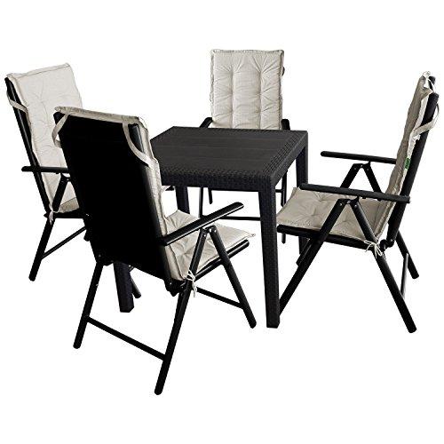 9tlg gartengarnitur sitzgruppe balkonm bel terrassenm bel gartenm bel set gartentisch. Black Bedroom Furniture Sets. Home Design Ideas