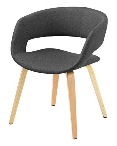 AC Design Furniture 60106 Esszimmerstuhl Jack, Corsica Stoff dunkelgrau