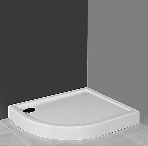AQUABAD® Duschwanne/Duschtasse Viertelkreis Asymmetrisch 100x80x14cm R55 Rechts