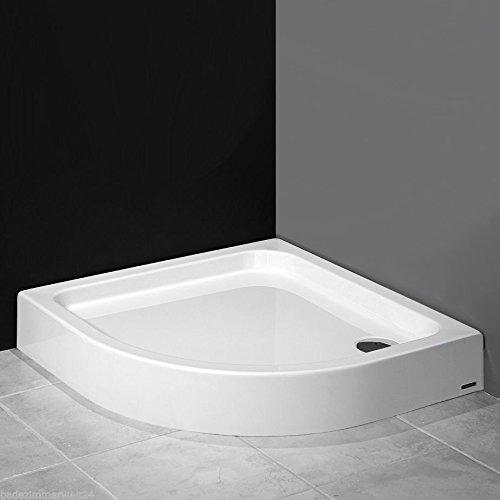 aquabad duschwanne duschtasse mit styroportr ger viertelkreis r55 80x80x17 cm integrierte. Black Bedroom Furniture Sets. Home Design Ideas