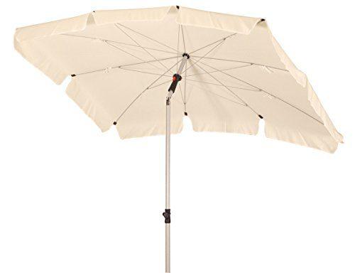 Absolut wetterfester Gartenschirm Basic Easy II 200x130 cm von Doppler - Derby mit UV-Schutz 50 Plus, Farbe natur