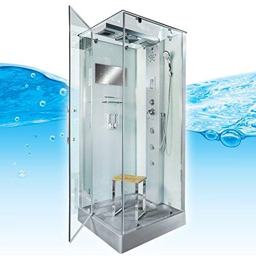 AcquaVapore DTP6038-8003L Dusche Dampfdusche Duschtempel Duschkabine -Th. 80x80, EasyClean Versiegelung der Scheiben:2K Scheiben Versiegelung +99.-EUR