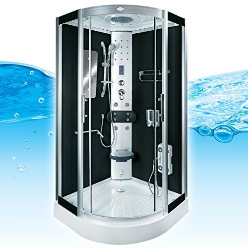 AcquaVapore DTP8046-6302 Dusche Dampfdusche Duschtempel Duschkabine 100x100 XL
