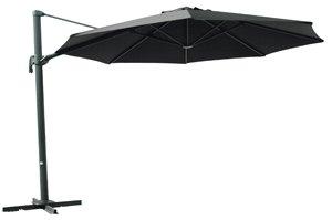 Alu Ampelschirm / Sonnenschirm schwarz 3,5m-300 gr/m² UV+50