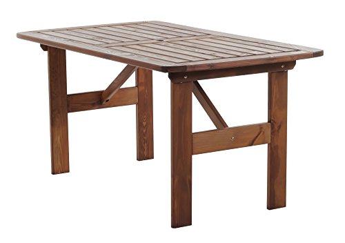 ambientehome 90340 gartentisch esstisch holztisch massivholz hanko maxi 140 x 80 cm braun. Black Bedroom Furniture Sets. Home Design Ideas