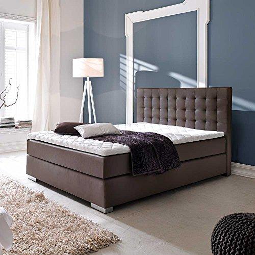 Amerikanisches Bett in Braun Topper Breite 182 cm Liegefläche 180x200 Pharao24