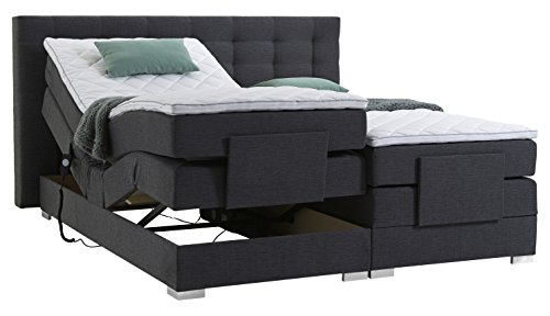 atlantic home collection mia180 01 motor boxspringbett stoff liegefl che 180 x 200 cm grau. Black Bedroom Furniture Sets. Home Design Ideas
