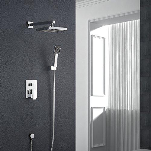 Auralum® - Überkopf-Brauseset Dusche Wasserhahn mit 8-Zoll-Duschkopf + Handbrause
