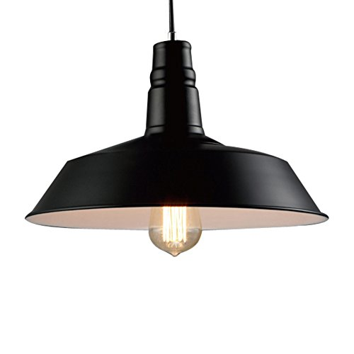 BAYCHEER Industrielampe E27 Metallpendelleuchte Heilo in schwarzer Farbe