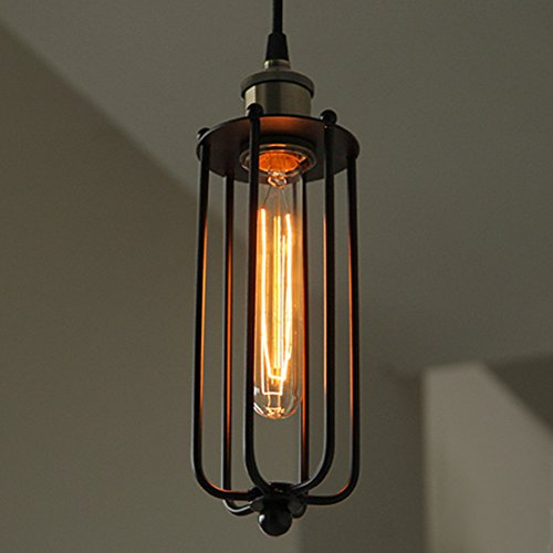 BAYCHEER Rustikale Industrielampe mit Stahlschirm Einflammige Hängeleuchte