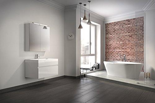 bad11 badm belset pandora 2 teilig 80 cm badezimmer m bel in hochglanz wei bad m bel set. Black Bedroom Furniture Sets. Home Design Ideas