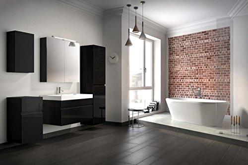 Bad11 badm belset pandora 5 teilig 80 cm badezimmer for Bad spiegelschrank schwarz