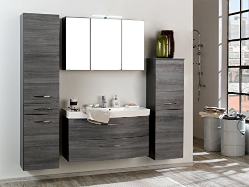 badezimmer komplettset schrank bad waschtisch m bel set spiegel graphit i m bel24. Black Bedroom Furniture Sets. Home Design Ideas