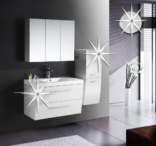 badezimmerm bel set badm bel hamburg hochglanz wei b 18 1429 m bel24. Black Bedroom Furniture Sets. Home Design Ideas