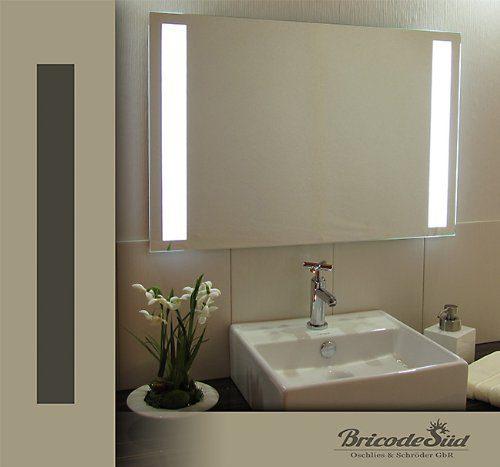 Badspiegel Tower 18W kaltweiß LED beleuchtet Wandspiegel 75x50