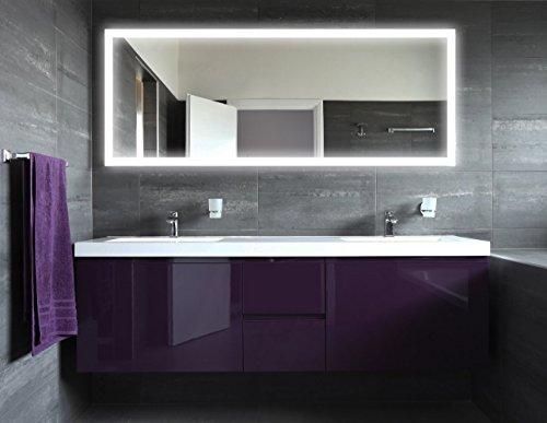 Spiegel badezimmer beleuchtet - Badspiegel mit rahmen ...