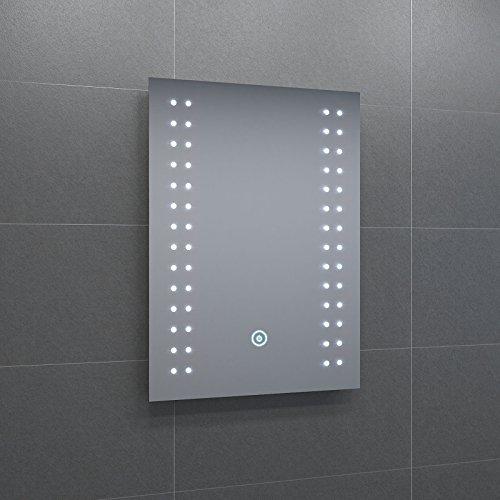 badspiegel mit energiesparender led beleuchtung warmwei ip44 energieklasse a 50 x 70cm. Black Bedroom Furniture Sets. Home Design Ideas