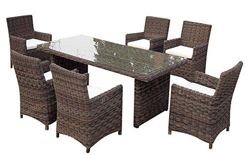 baidani gartenm bel sets 10a00016 designer rattan essgruppe essence 1 tisch mit glasplatte 6. Black Bedroom Furniture Sets. Home Design Ideas