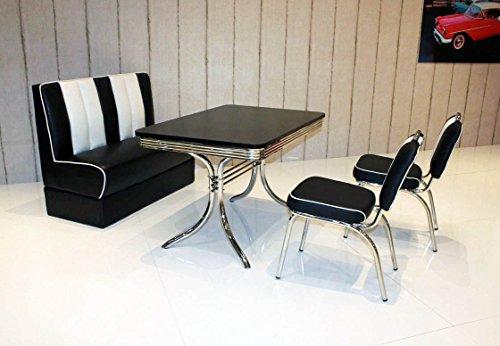 bank sitzgruppe american diner vegas king6 6tlg in schwarz schwarz m bel24. Black Bedroom Furniture Sets. Home Design Ideas