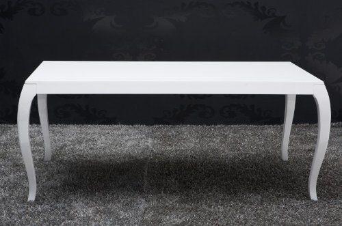 Barock Esstisch Hochglanz Weiß 200cm - Esszimmer Tisch - 10558 - Barock Möbel Modern
