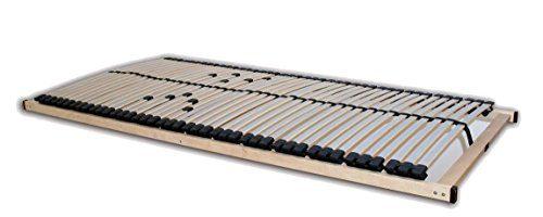 Betten-ABC 4250639100947 Lattenrost Superflex NV-MZV zur Selbstmontage, mit 42 stabilen Federholzleisten und durchgehenden Holmen, mit mittelzonenverstellung im Beckenbereich, 140 x 200 cm