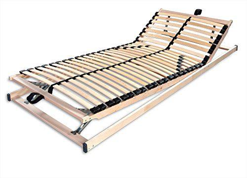 Betten-ABC 4250639145757 Max1 K plus F, Lattenrost, fertig montiert mit Kopf- und Fußteilverstellung, Holm durchgehend, Größe 100 x 200 cm