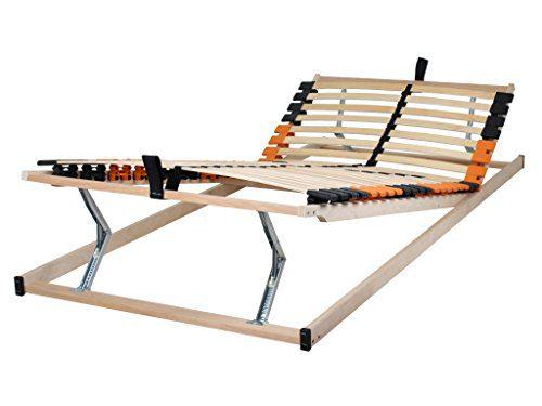 Betten-ABC 4250639146907 Medifix K+F, 7-Zonen-Lattenrost mit Kopf- und Fußteilverstellung, Holm durchgehend, Größe 90 x 200 cm