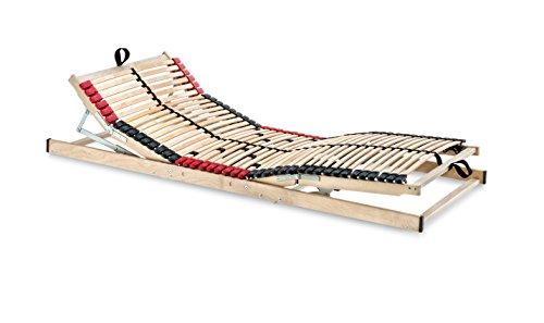 Betten-ABC 4250639147928 Superflex Elektro, Lattenrost mit elektrischer Kopf und Fußteilverstellung, 7 Zonen, 70 x 200 cm