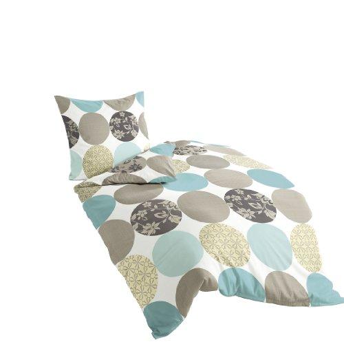 bierbaum 6383 02 mako satin bettw sche dessin 135 x 200 cm und 80 x 80 cm t rkis 02 m bel24. Black Bedroom Furniture Sets. Home Design Ideas