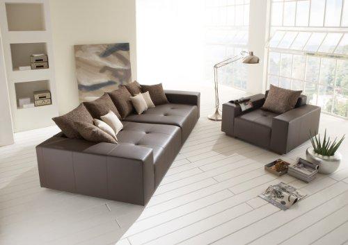 big leder sofa mit sessel made in germany italienisches leder freie farbwahl ohne aufpreis. Black Bedroom Furniture Sets. Home Design Ideas