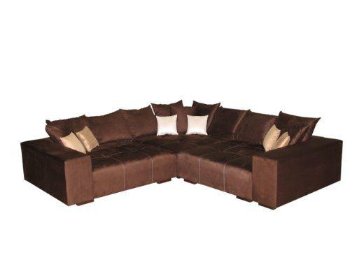 Big Sofa Ecke - Made in Germany - Bezug Alcatex Noble Lux - Freie Farbwahl ohne Aufpreis aus ca. 70 Farben - Nahezu jedes Sondermaß möglich! Info unter 05226-9845045 oder info@highlight-polstermoebel.de