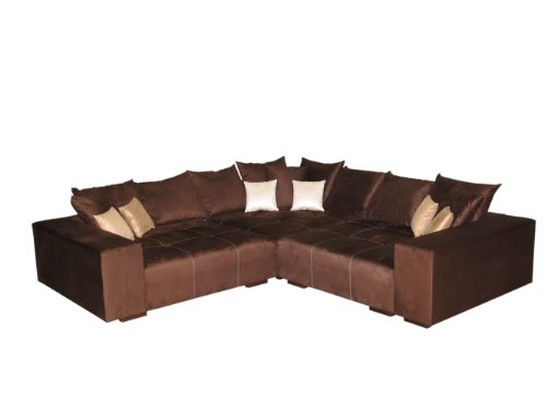 big sofa ecke made in germany bezug alcatex noble lux freie farbwahl ohne aufpreis aus ca. Black Bedroom Furniture Sets. Home Design Ideas
