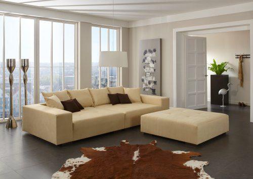 Big Sofa - Made in Germany - Bezug Noble Lux - Freie Farbwahl ohne Aufpreis aus ca. 70 Farben - Nahezu jedes Sondermaß möglich! Info unter 05223-7891588 oder info@highlight-polstermoebel.de