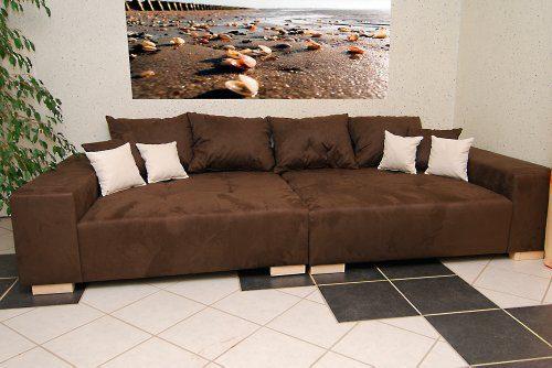 Big Sofa - Made in Germany - Bezug Noble Lux - Freie Farbwahl ohne Aufpreis aus ca. 70 Farben - Nahezu jedes Sondermaß möglich! Sprechen Sie uns an. Info unter 05226-9845045 oder info@highlight-polstermoebel.de