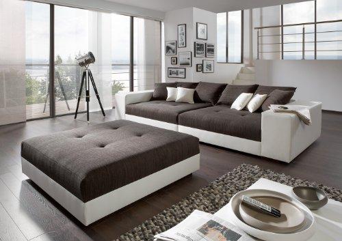 Big Sofa exclusiv mit Hocker - Made in Germany - Freie Stoff und Farbwahl zum kombinieren ohne Aufpreis aus unserem Sortiment (ausser Echtleder). Nahezu jedes Sondermaß möglich! Sprechen Sie uns an. Info unter 05226-9845045 oder info@highlight-polstermoebel.de