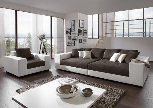 Big Sofa exclusiv mit Sessel - Made in Germany - Freie Stoff und Farbwahl zum kombinieren ohne Aufpreis aus unserem Sortiment (ausser Echtleder). Nahezu jedes Sondermaß möglich! Sprechen Sie uns an. Info unter 05226-9845045 oder info@highlight-polstermoebel.de